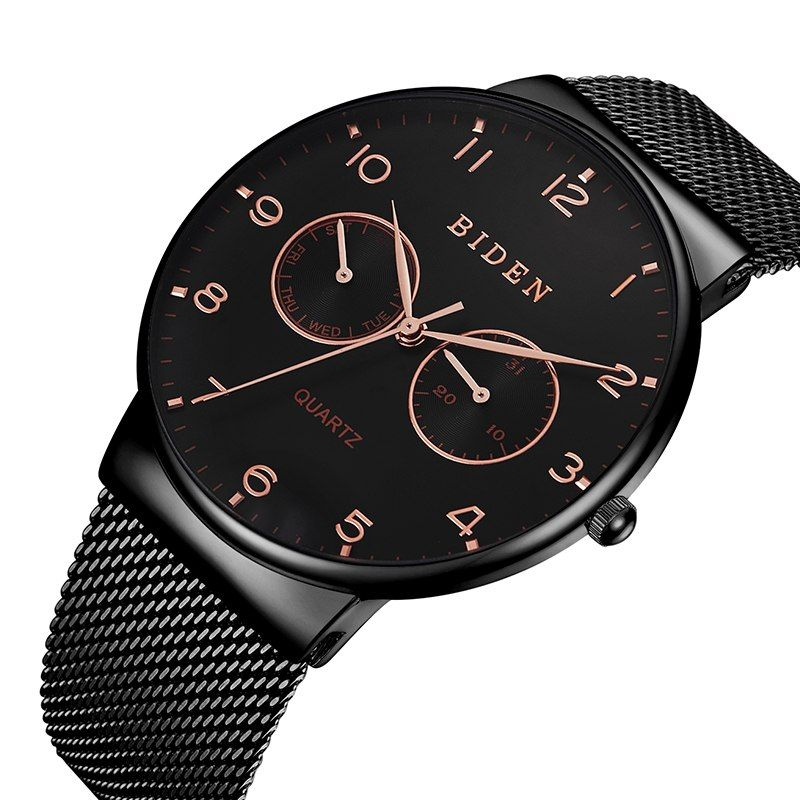 e5b2eabe9 Buy Mesh Steel Black Watch at indozstyle.com! Free shipping to 185  countries. 45 days money back guarantee.