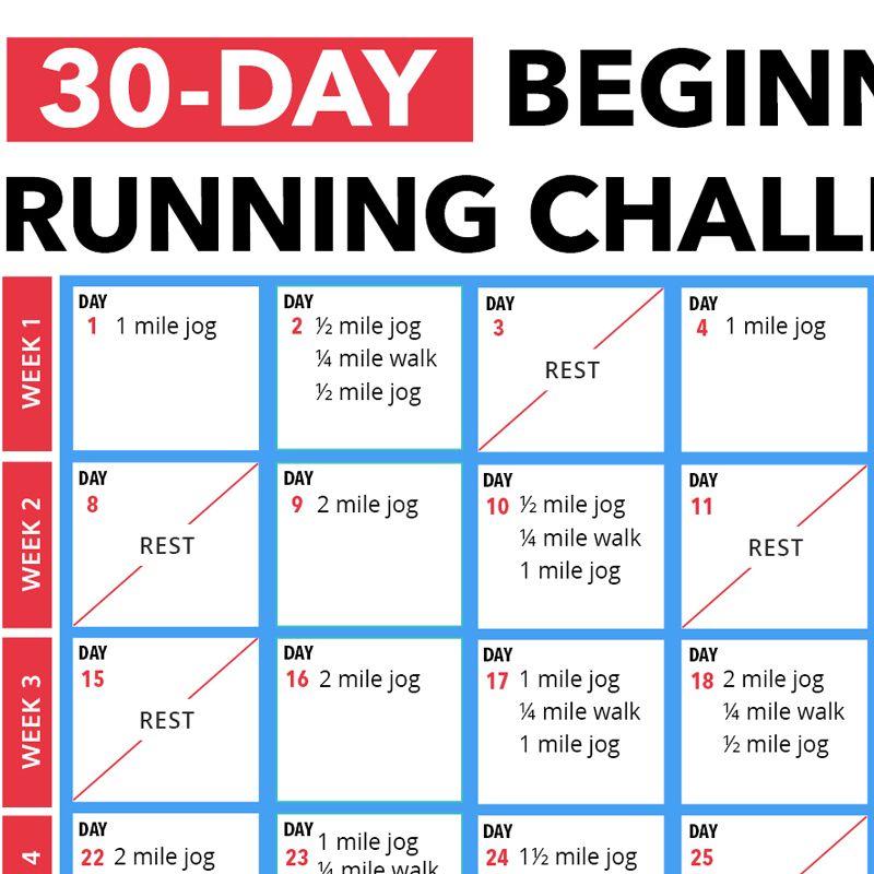 30 day beginners running challenge running challenge