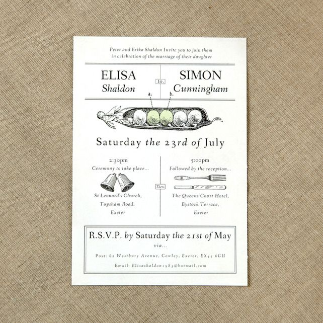 Two Peas Vintage Wedding Invitation 2 50
