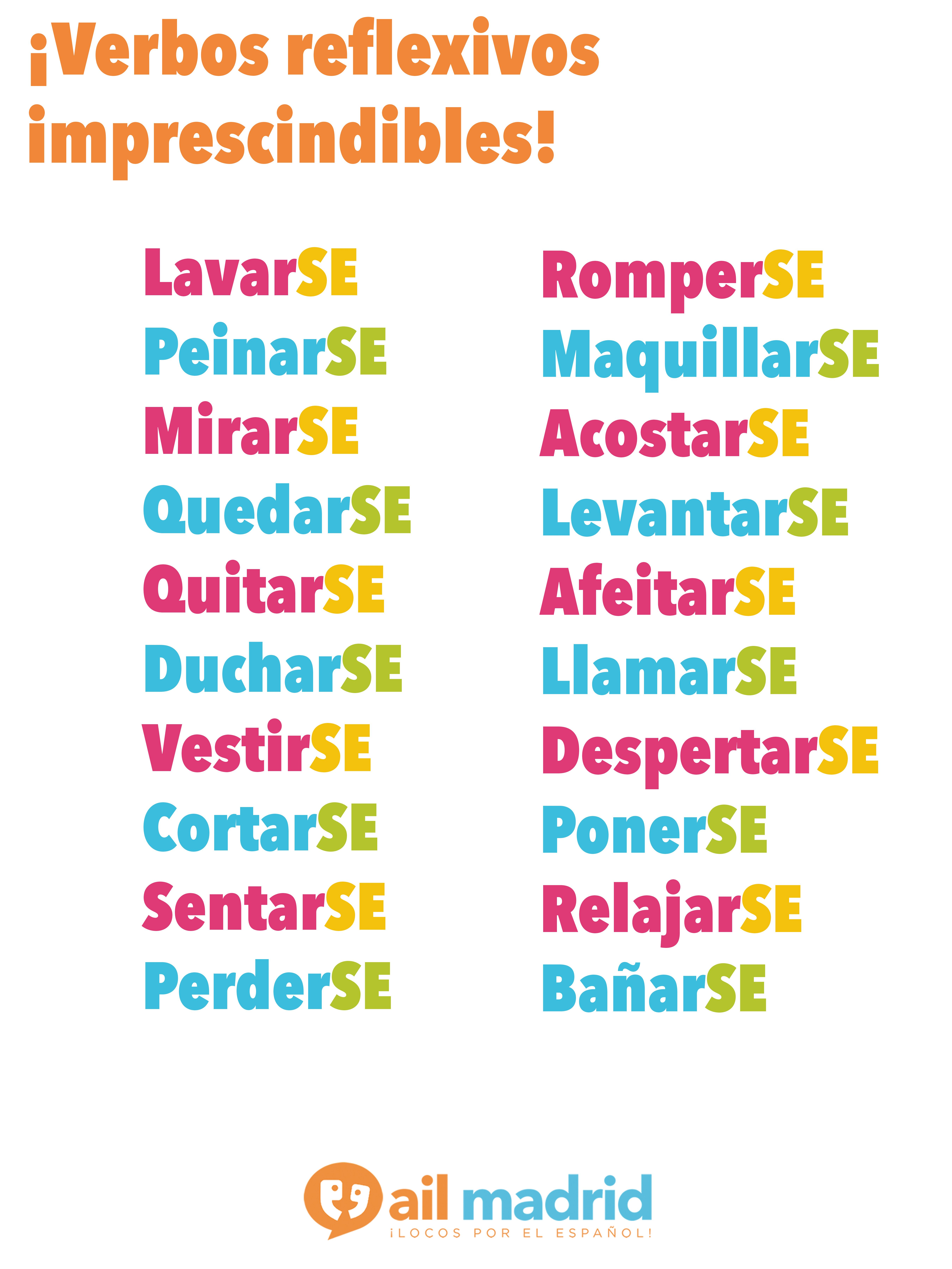 Don T Forget These Spanish Reflexive Verbs Spanish Reflexive Verbs Spanish Verbs Learning Spanish [ 7200 x 5400 Pixel ]