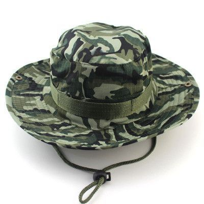 1119a0f9398 Bucket Hat Boonie Hunting Fishing Outdoor Men Cap Washed Cotton NEW W   STRINGS RL23-0007