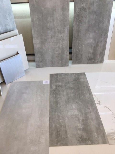 Porcelanato Gris Cemento Alisado Pisos 60 X 120 Materiales
