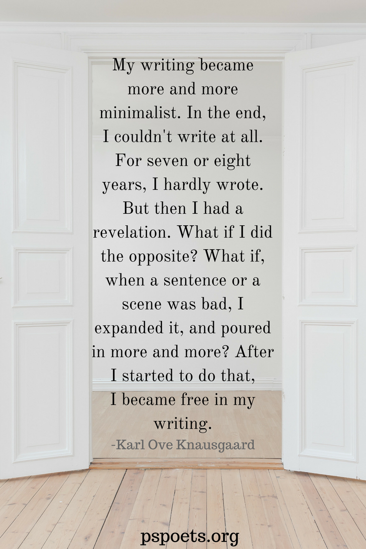 Writers Quotes Minimalist Writers  Quotes About Writing  Karl Ove Knausgaard