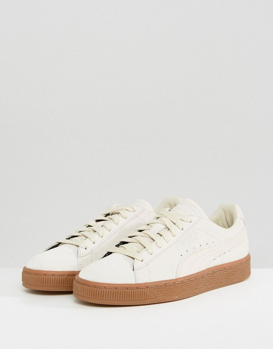 Puma Suede Classic Sneakers With Gum Sole In Beige - Beige 944e8c77f9