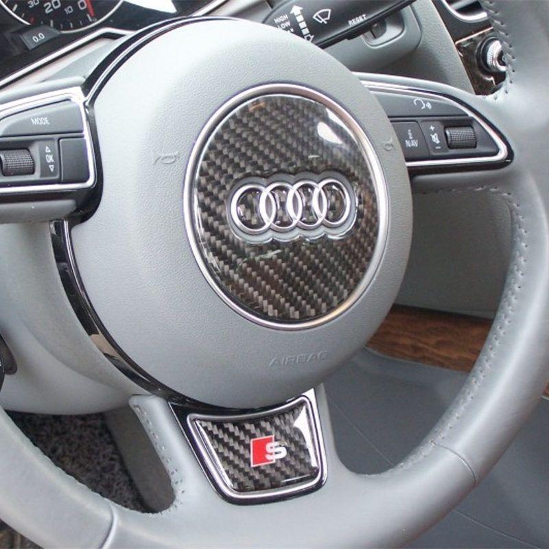 Carbon Fiber Car Steering Wheel Sticker RS Sline S Line