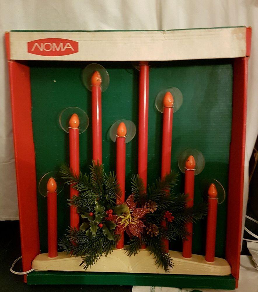 Noma Christmas Decorations: Vintage Noma 8-Light Christmas Candolier Halos, Box