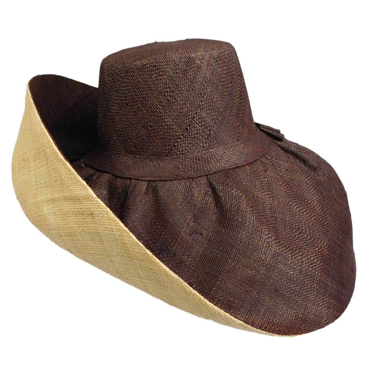 4561273e6e91b6 Madagascar Raffia Extra Wide Brim Beach Hat | Ladies Summer Hats ...