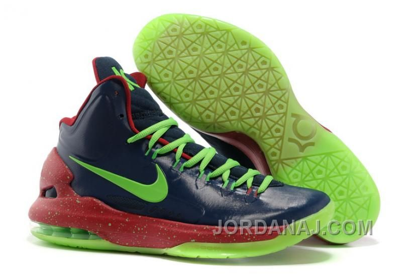 2db373561c3e Nike Zoom KD V Black Green Glow in the Dark Sole Shoes Galaxy Blues