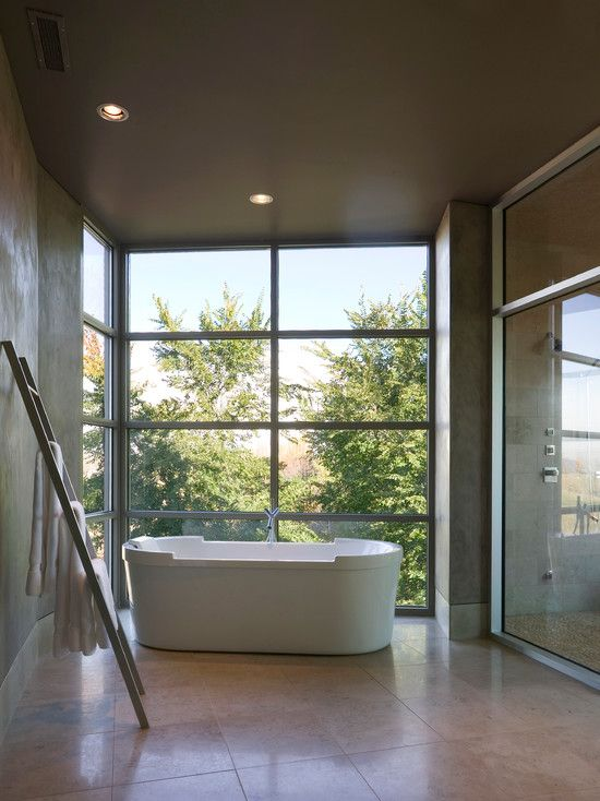 Wonderful residence design with beautiful backyard fantastic bathroom interior in selah house minimalist bathtub room also rh pinterest