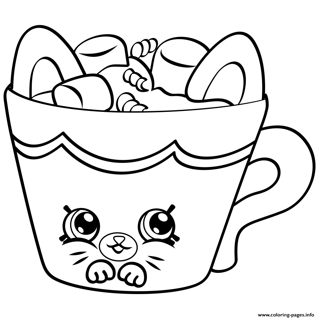 Petkins From Season 4 Coloring Pages Printable Shopkins