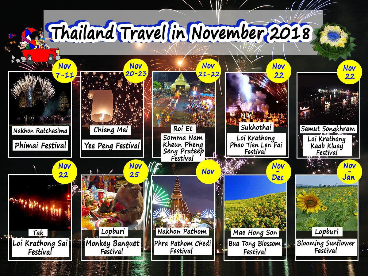 travel calendar thailand travel in november 2018 just check below