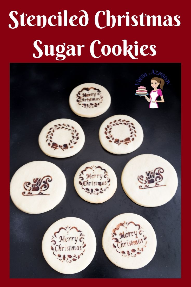 Stenciled Christmas Sugar Cookies - Video Tutorial - Veena Azmanov Celebrate the holidays with the