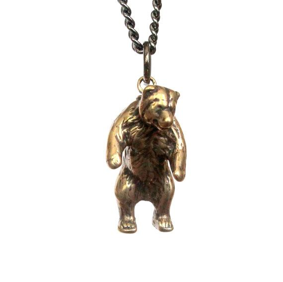 Mama bear necklace in solid bronze grizzly bear pendant necklace mama bear necklace in solid bronze grizzly bear pendant necklace totem bear charm 125 aloadofball Images