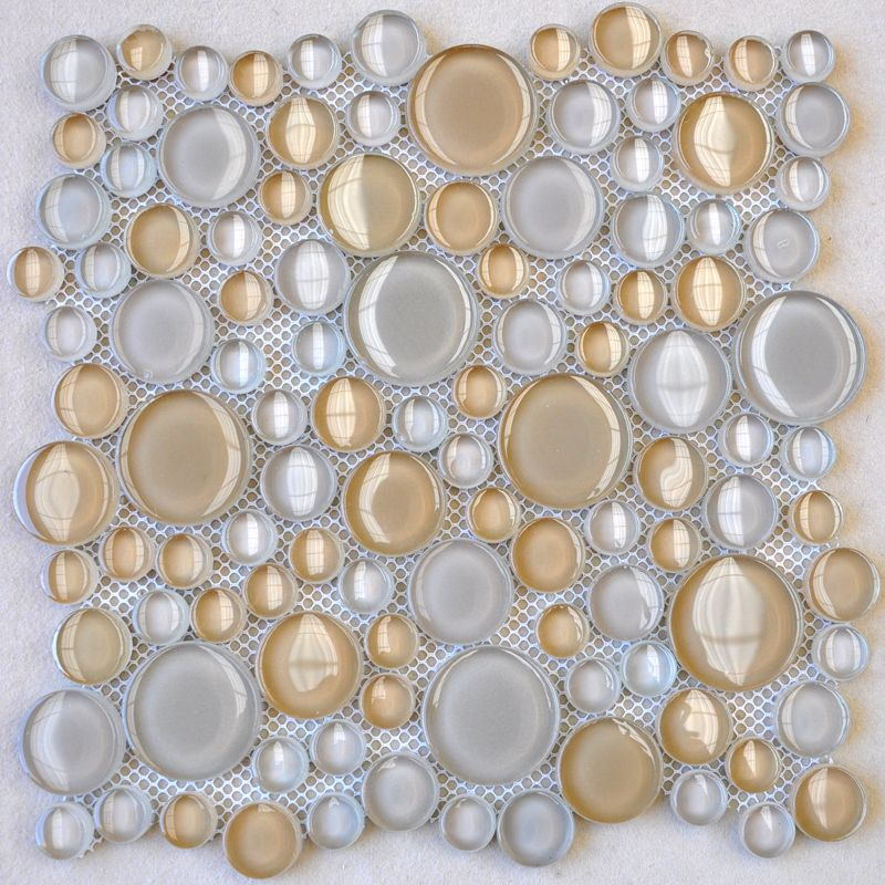 Penny Round Backsplash: Penny Round Glass Tile Backsplash Ideas Bathroom Floor