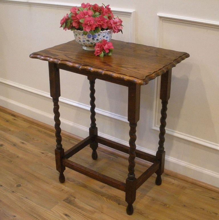 Antique Barley Twist Side Table....add A Touch Of English Country Style