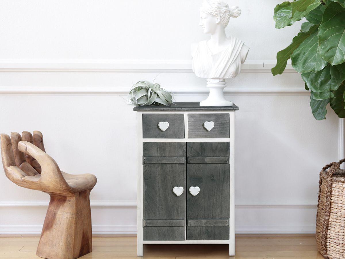 Comodino cameretta ~ Comodino shabby chic ideale per i piccoli spazi in legno di