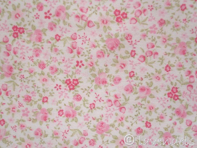 Rosa Blumen Stoff