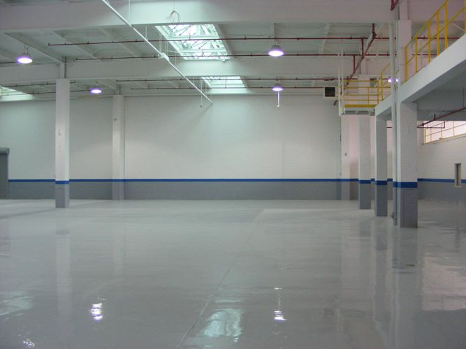 Inside Of A Warehouse By Worry Free Painting Interiorpainting Commercialpainting Commercial Roofing Roofing Contractors Roofing