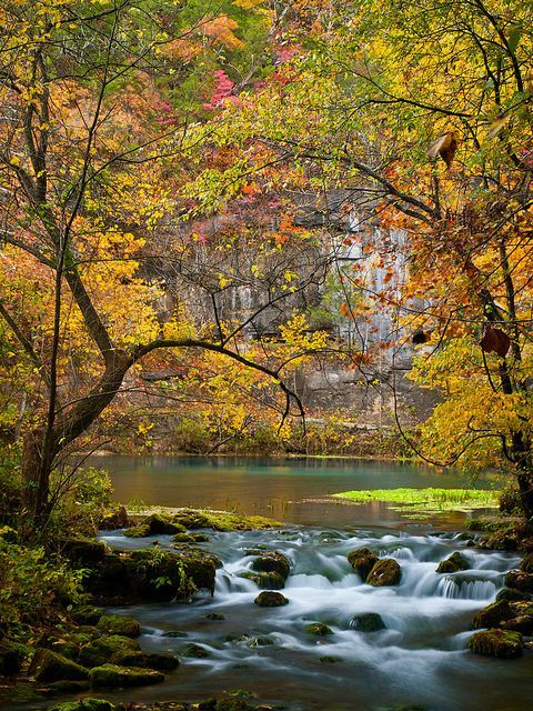 15 Most Beautiful Places in Missouri including Alley Spring and Mill, in the Ozark National Scenic Waterways in southeastern Missouri