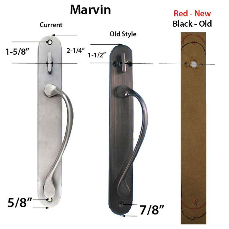 Marvin Active Non Keyed Traditional Wide Sliding Door Handle Trim White Door Handles Sliding Door Handles French Doors Patio