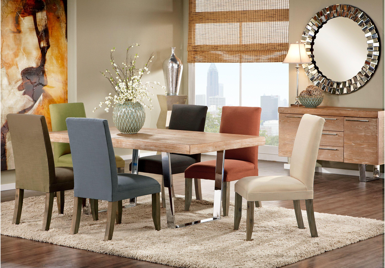 Cindy Crawford Home San Francisco Ash 5 Pc Dining Room With Chalk Chairs Dining Room Sets Muebles De Comedor Decoracion De Unas Cindy Crawford