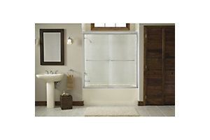 Finesse Sliding Bath Door With Quick Install Mounting System