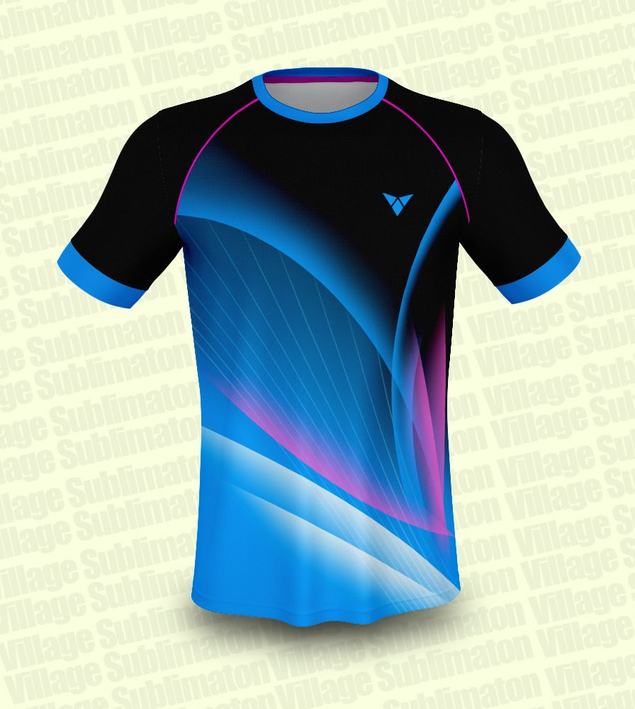 Blue Black Pink Volleyball Jersey Design In 2020 Jersey Design Volleyball Jersey Design Sports Wear Fashion