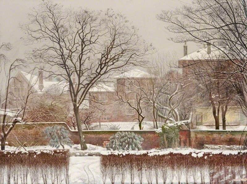 BBC - Your Paintings - Urban Garden under Snow