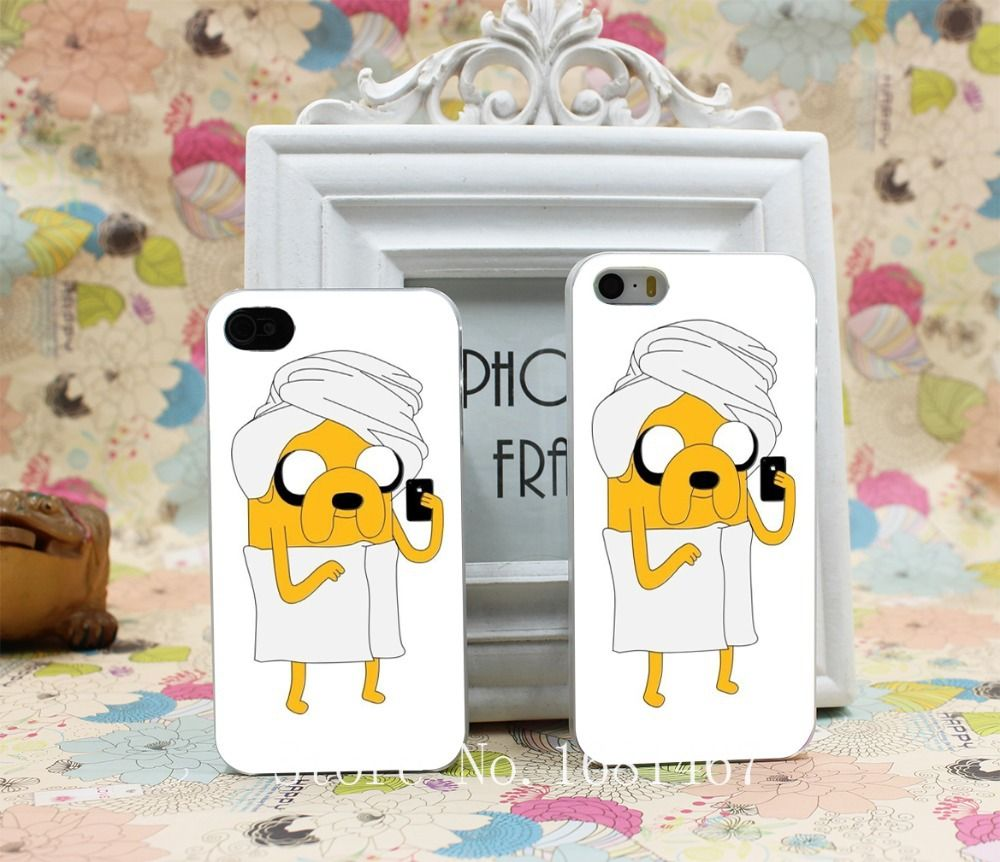 Adventure Time Jake Joke Funny Cartoon Hard Clear Skin Case Cover for iPhone 4 4s 7 7 Plus 5 5s 5g 1PC