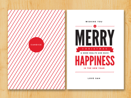 Christmas Design Inspiration christmas card designs'pretty neat': http://prettyneatblog