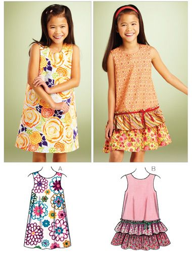 Girls A Line Dress Kwiksew K3862 A Line Dresses Hobbies Sewing