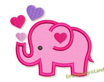 Resultado de imagem para elephant applique template first
