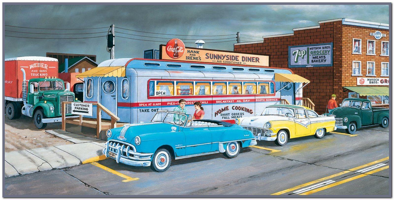 American Diner Wallpaper - WallpaperSafari