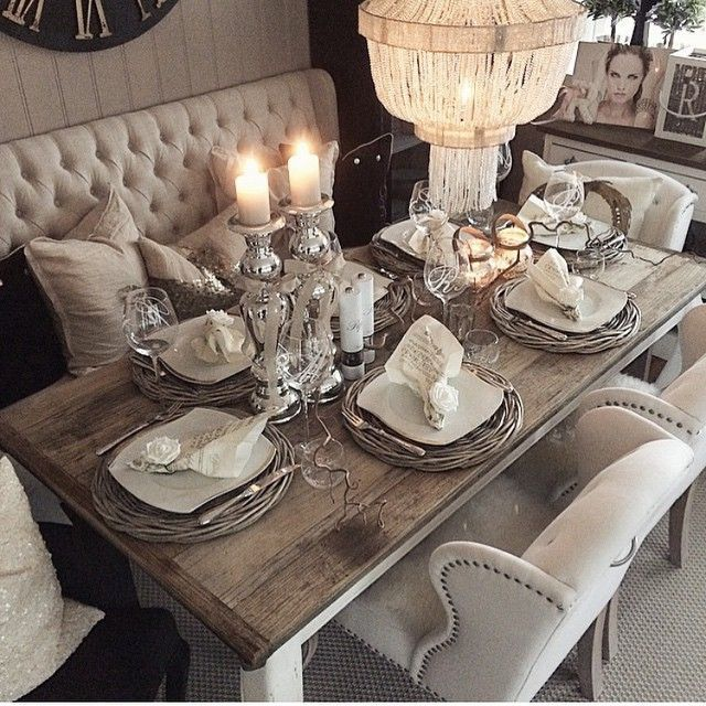 Elegant Tableware For Dining Rooms With Style: These Rustic Dining Rooms Are The Definition Of Country