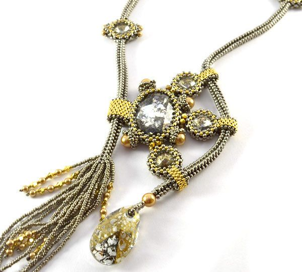 Stargazer Necklace Beading Kit Silver Gold Bead kits Stargazer