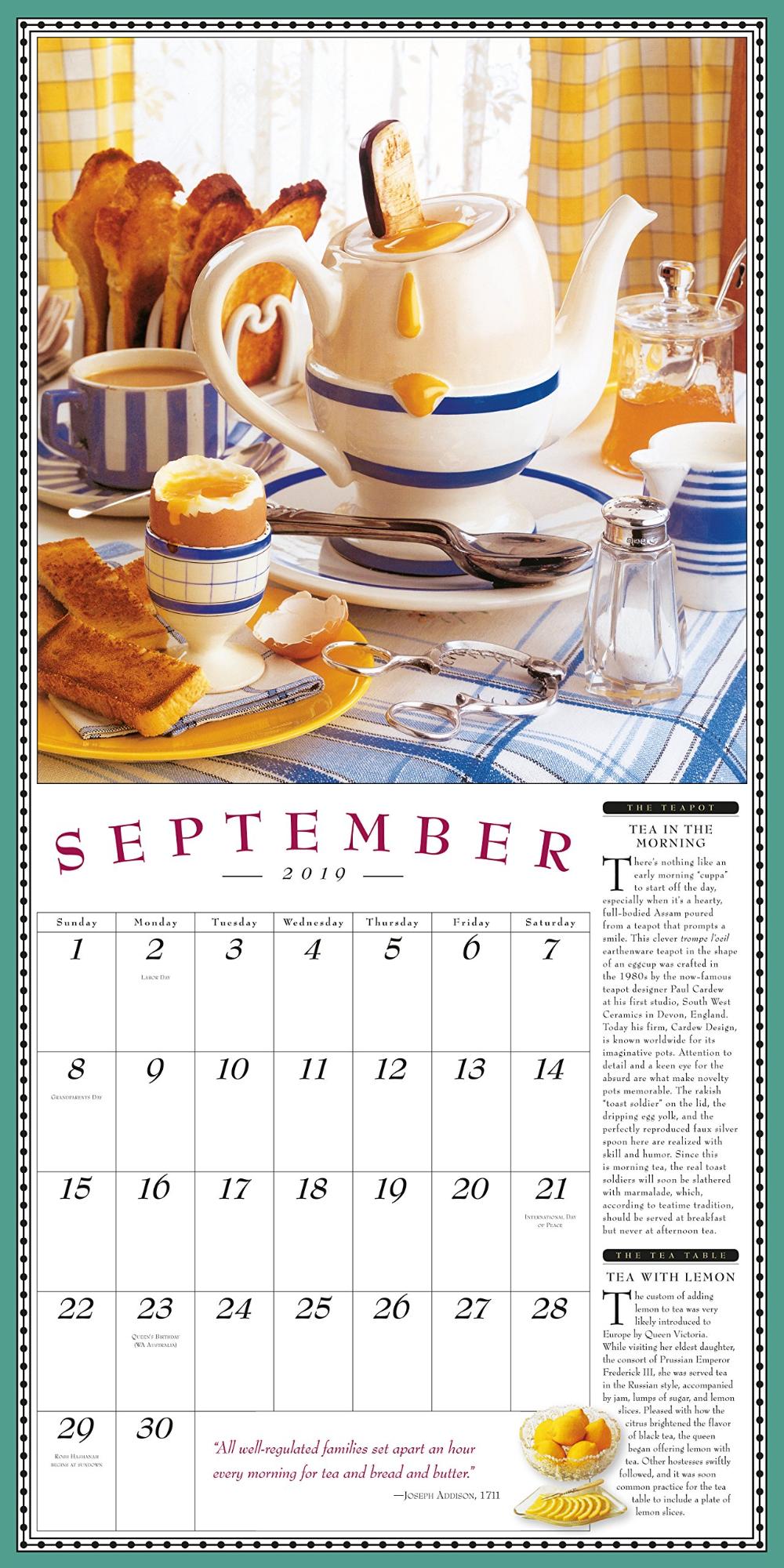 The Collectible Teapot & Tea Wall Calendar 2019: Workman ...