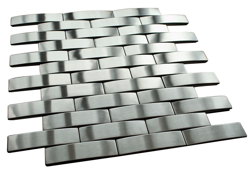 Silver Stainless Steel Subway Style Mosaic Tiles Mosaic Tiles Mosaic Tile Sheets Subway Style