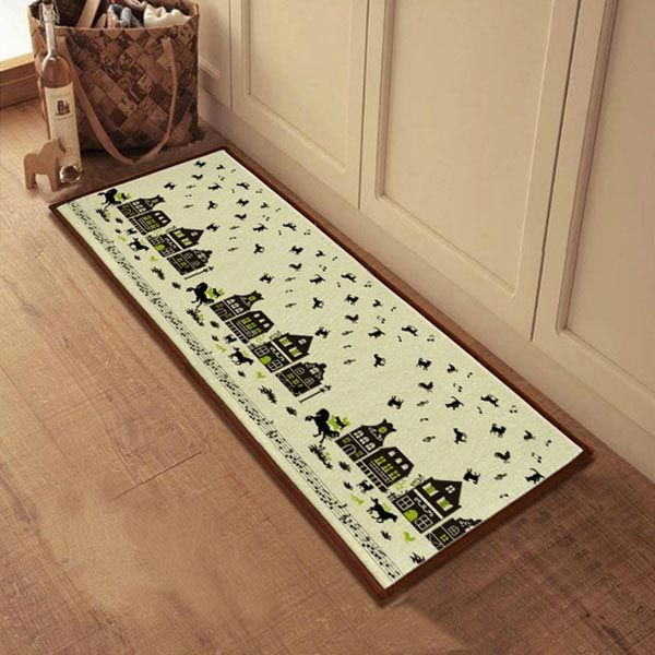 Creative Absorbent Bathroom Door Mats Slip Resistant Feet Mats With Images Kitchen Rugs And Mats Kitchen Mats Floor Flooring