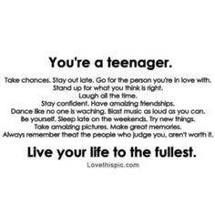Inspirational Quotes For Teenagers About Life Fair The Life Of A Teenage Girl Quotes  Google Search  Quotes