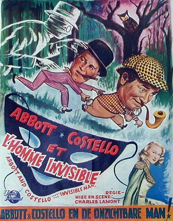 Abbott And Costello Meet The Invisible Man Pin On Classic Movies