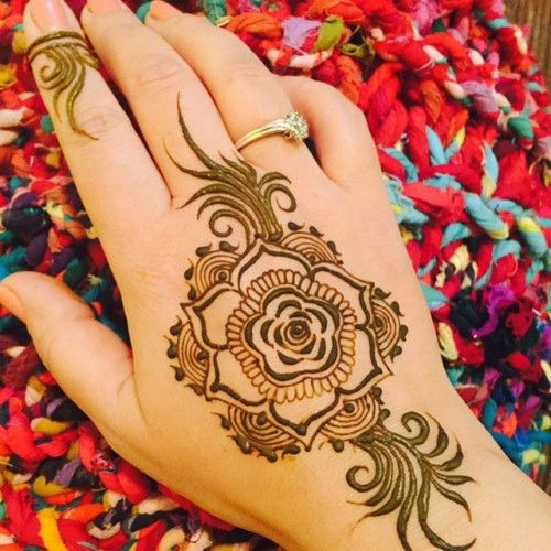 Single Simple Rose Design For Henna Rose Mehndi Designs Mehndi Design Images Best Mehndi Designs