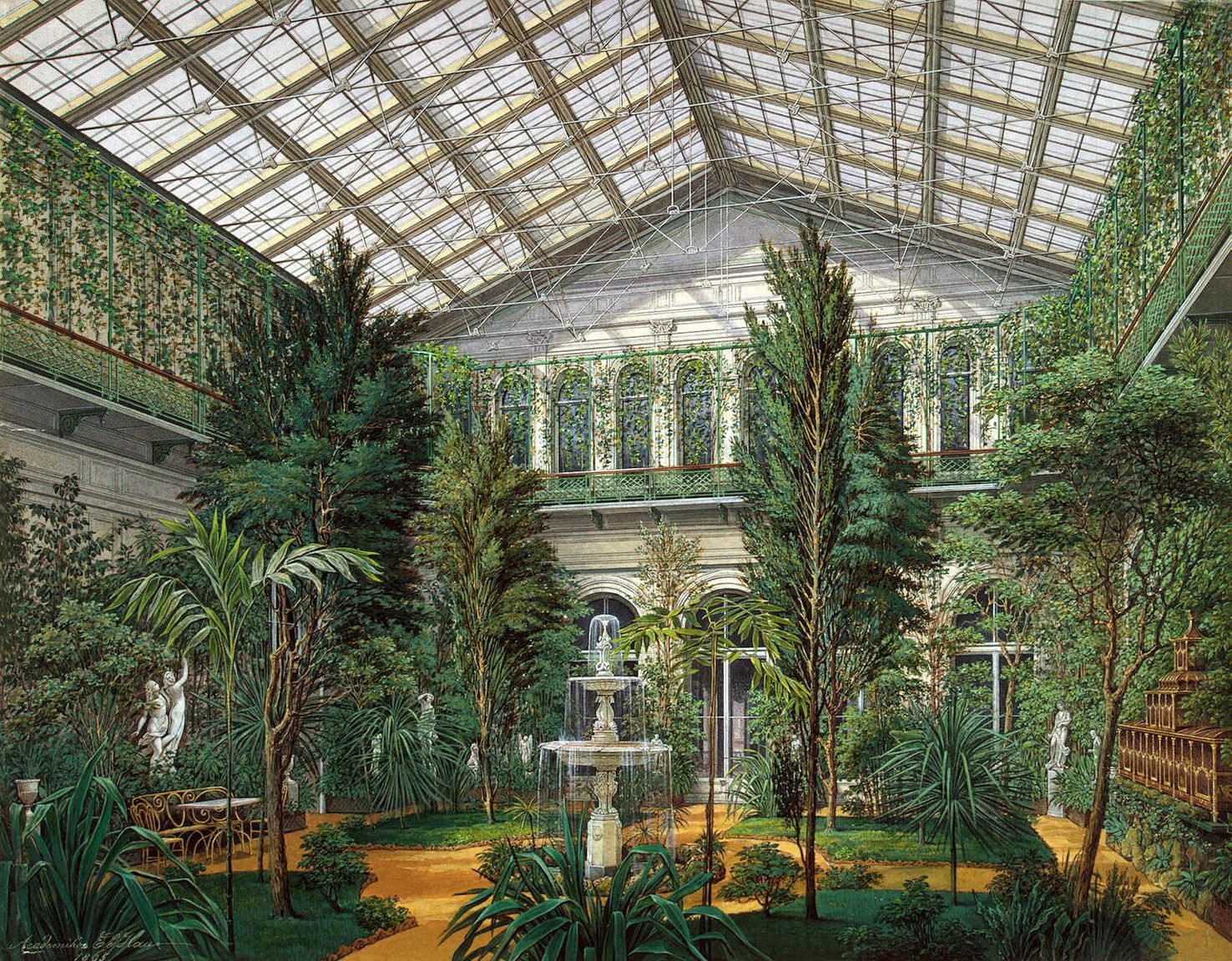 Interiors of the Small Hermitage.  Winter Garden