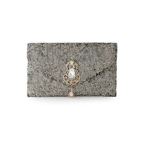 NOVICA Sequined clutch evening bag (185 BRL) ❤ liked on Polyvore featuring bags, handbags, clutches, bolsas, accessories, clothing & accessories, flaps, metallic, metallic evening bag and metallic purse