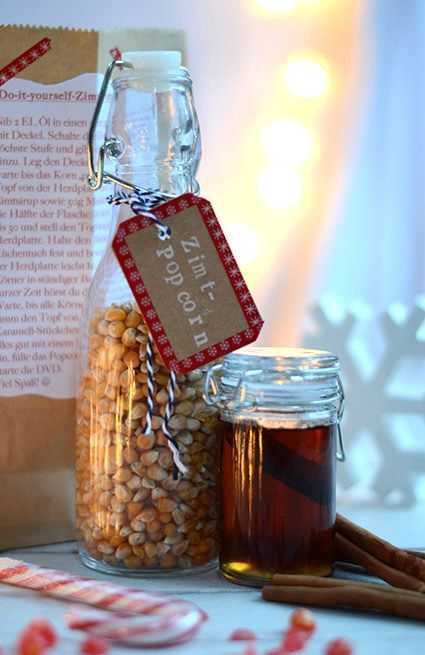 Zimt-Popcorn Geschenke Pinterest Geschenke aus der küche - geschenke aus der küche weihnachten