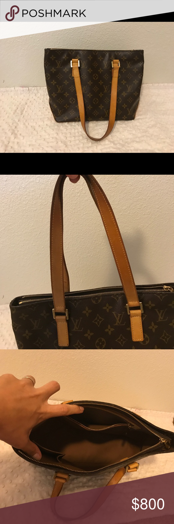 Louis Vuitton Cabas Piano Selling my Louis. Sad to see it go but it's just too small for all the things I carry now with baby 👶🏽 It has no tears, no peeling and no major stains. Comes with dust bag. The outside bottom of the bag has some wear and tear scuffs but that's normal. The handle straps are still in great light color condition. This bag still has a lot of life left. It's an authentic bag not a replica so please do not low ball. Thank you 😊 Louis Vuitton Bags Totes