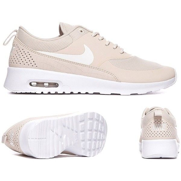 Womens Air Max Thea Trainer ❤ liked on Polyvore featuring shoes, sneakers, white sneakers, cushioned shoes, white low sneakers, white shoes and low sneakers