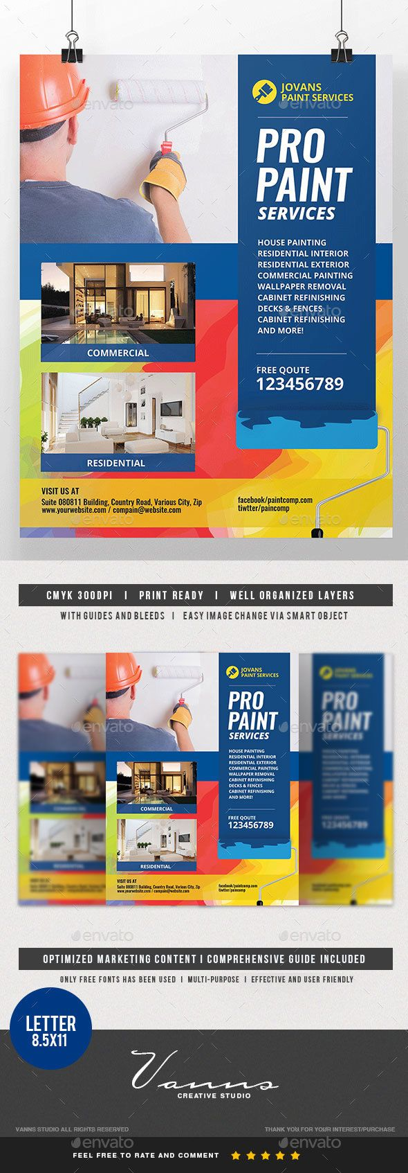 11 Paint Business Flyers Ideas Painting Logo Design Business
