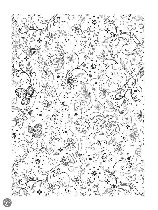 Kleurplaat Bloemen Coloriages Anti Stress Pinterest