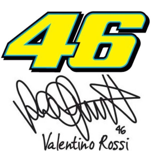 Firma Valentino Rossi VR46 autograph   Fond d'écran chanel, Vieux jeans,  Motorcycle