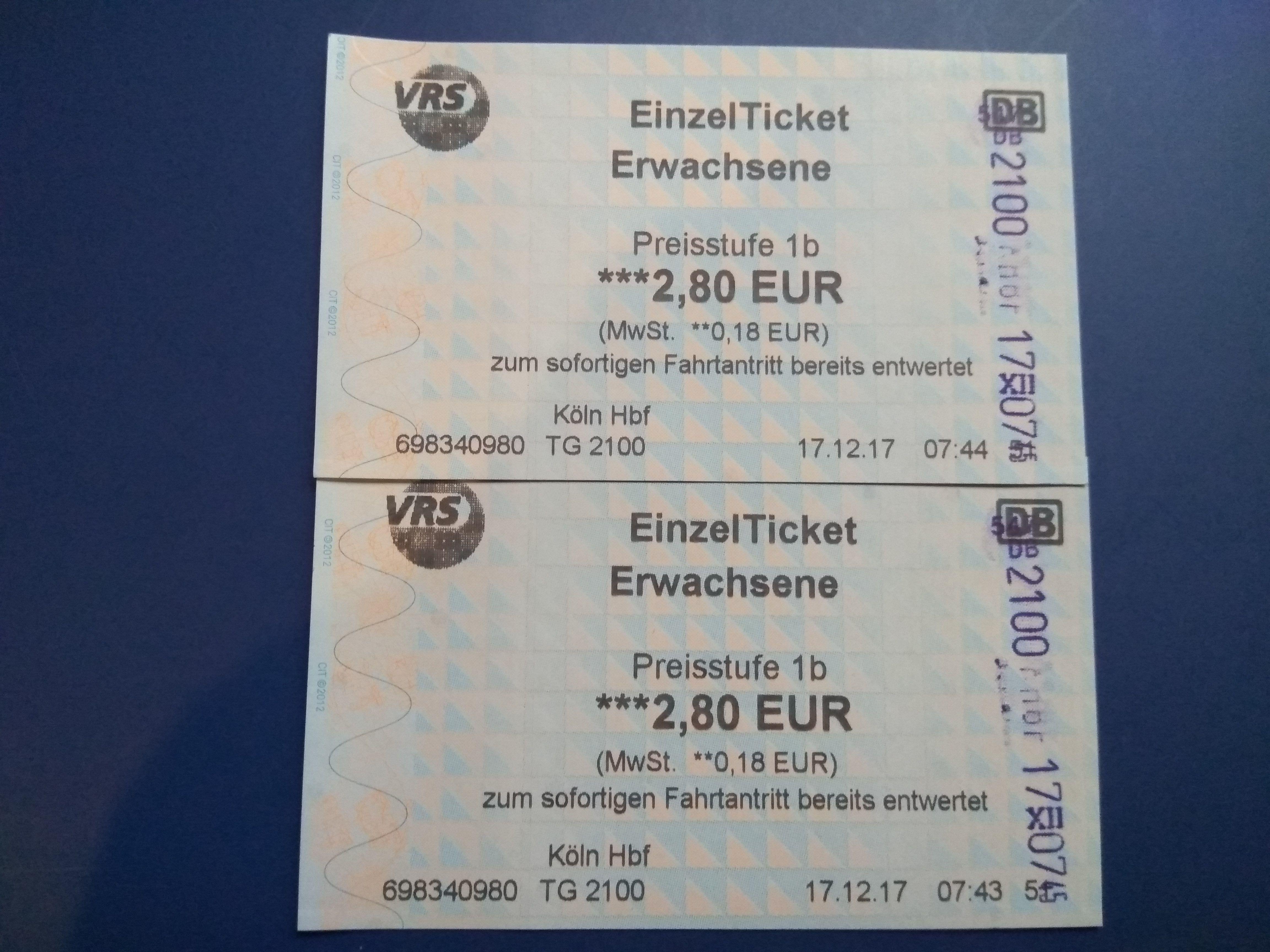 Tickets tren aeropuerto Colonia